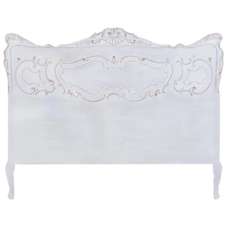 Vintage French Queen Size Bed Headboard