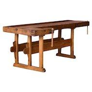 Antique European Carpenter's Workbench