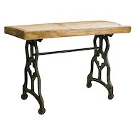 Rustic Antique Cast Iron Console Table