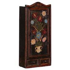 Antique Folk Art Painted Hanging Coat Rack