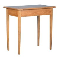 Small Round Antique Swedish Country Pine Side Table