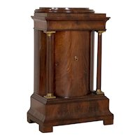 Antique Bow Front Mahogany Biedermeier Cabinet from Denmark