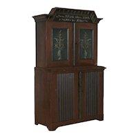Original Painted Swedish Cabinet Cupboard Dated 1834