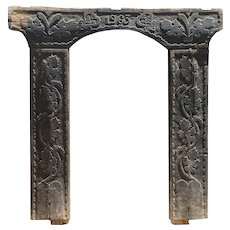 Large Hand Carved Hungarian Door Surround or Gate Frame
