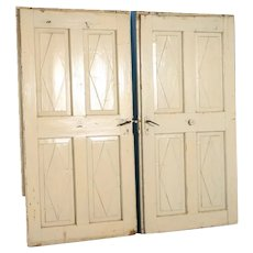 Pair of Wide 19th Century Swedish Doors Painted White