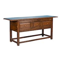 Antique Chinese Painted and Lacquered Sideboard or Console Table