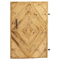Antique Single Pine Barn Door, Circa 1840 Lithuania