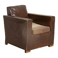 Vintage Leather Arm Chair from Denmark