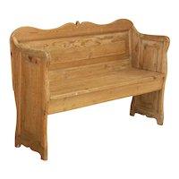 Antique Pine Bench From Sweden circa 1880