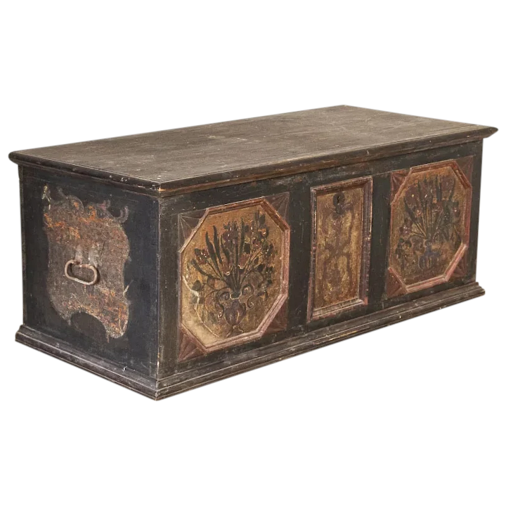 Hand Painted Trunk Blanket Chest