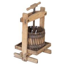 Antique Small Wine Press