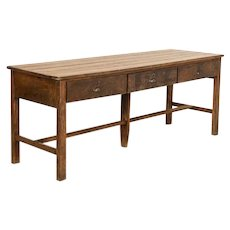 Antique Work Table Store Counter Kitchen Island With 3 Large Drawer