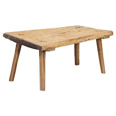 Antique Rustic Butchers Top Coffee Table