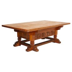 Antique Large Library Table from Denmark