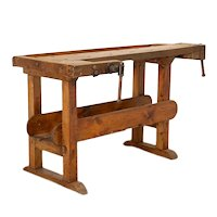 Vintage 5' Carpenter's Workbench Table from Denmark