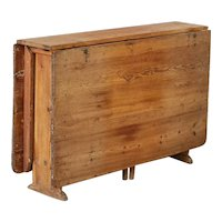 Antique Swedish Pine Gate Leg Drop Leaf Table