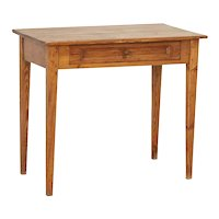 Antique Swedish Pine Side Table With Tapered Legs
