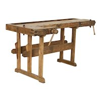 Antique Danish Carpenter's Work Bench