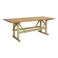 Antique Pine Farm Table Work Table/Console from Sweden