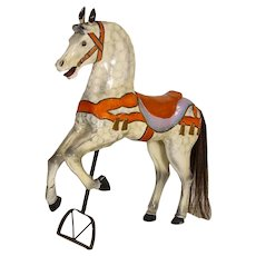 Antique Original Painted Carousel Horse from Denmark