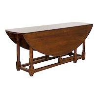 Antique English Oak Gateleg Dining Wake Table