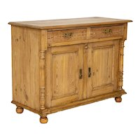 Antique Danish Pine Sideboard Cabinet