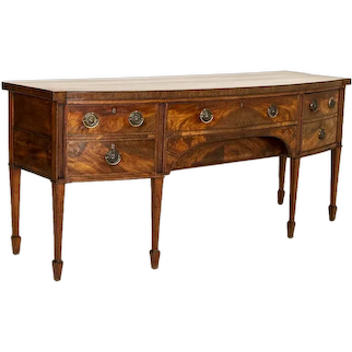 Large Antique Mahogany Buffet Sideboard from England