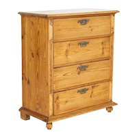 Antique Swedish Pine Chest of Four Drawers