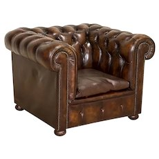 Authentic Vintage Chesterfield Club Chair Arm Chair, England