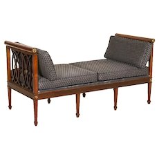 Antique Mahogany Sofa Bench from Sweden