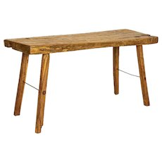Rustic Plank Wood Vintage Console Table