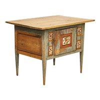 Antique Original Hand Painted Small Sideboard or Side Table from Sweden