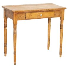 Antique Pine Side Table With Drawer Nightstand