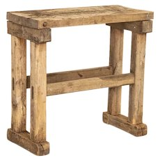 Rustic Antique Small Work Table Side Table