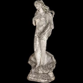 Vintage Birth of Venus Cement Garden Statue from France