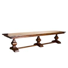 Antique 12.5' Long French Dining Table Refectory Table