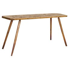 Vintage Rustic Console Table With Splay Legs from Hungary