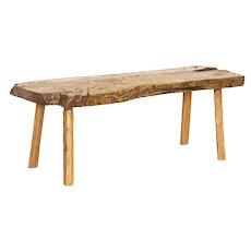 Vintage Rustic Slab Wood Live Edge Coffee Table