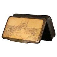 Antique Horn Snuff Box