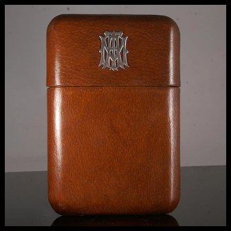 Large Attractive Leather Cigar Case