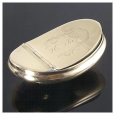Attractive Victorian Brass Snuff Box