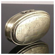 Fine Quality  Early Dutch Brass Tobacco Box