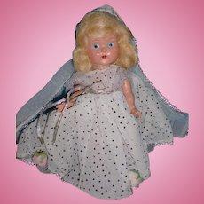 Painted Eye Hard Plastic Vogue Ginny Cinderella Doll