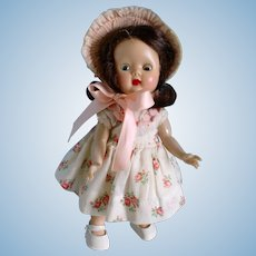 Vintage 1953 Strung Muffie Doll - Hard Plastic