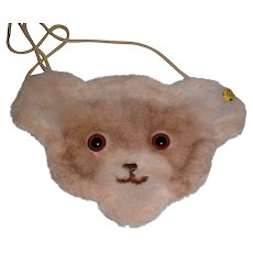 Steiff Teddy Bear Purse - Vintage