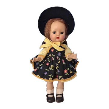 Muffie Doll Bent Knee Walker in Original Outfit