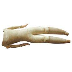 "19"" antique German kid body w/composition hands"