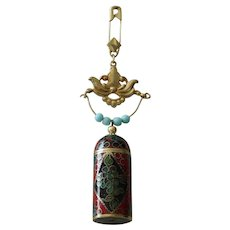 Cloisonne perfume chatelaine for doll