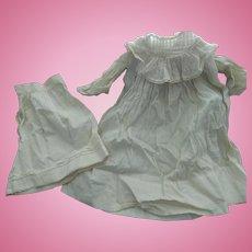 Lovely antique doll dress & slip