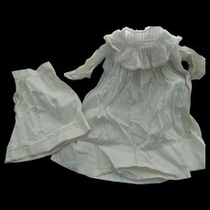 Lovely antique doll dress & slip